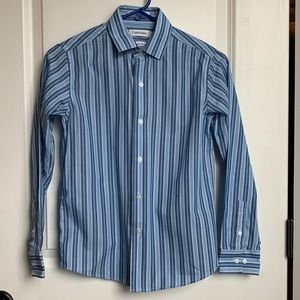 Calvin Klein Boy's Sz 12 Slim Fit Shirt